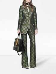 Art Deco Floral Print Gg Jacket And Trousers Suit Size 38 Uk 6 8 Bnwt