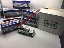 1994 Case Of 6 Hess Rescue Trucks In Boxes