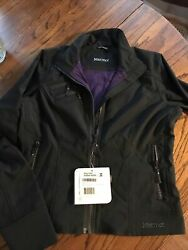 Marmot Womens Size S Black Zoom Softshell Rain Jacket New Tags Water Repellent