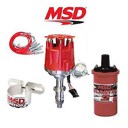 Msd 9913 Ignition Complete Kit Ready To Run Distributor/wires/coil - Pontiac V8