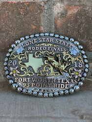 Trophy Rodeo Champion Belt Buckle Bullrider Texas Sterling Silver 2020