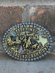 Trophy Rodeo Champion Belt Buckle Calf Roper All Around Sterling Silver 2020