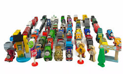 Thomas The Tank Engine Train And Friends Die Cast Magnetic Wooden Lot 70 Pieces