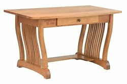 Amish Royal Mission Writing Computer Desk Home Office Furniture Solid Wood