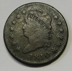 1810 Classic Head Large Cent Grading Fine Sheldon 285 Nice Affordable Coin J9