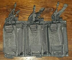 Firstspear 5.56 Triple Speed Reload W/ Pistol Mag Pouch 6/9 Molle Manatee Grey