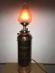 Copper Fire Extinguisher With Glass Flame Shade