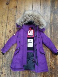 Canada Weather Gear Girls Insulated Parka Winter Size 5/6 Purple With Hood Warm