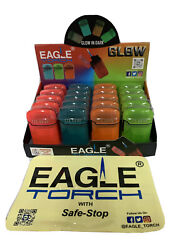 Eagle Torch Lighter Pt113gd Butane Refillable Glow In Dark Lighters Whole Box