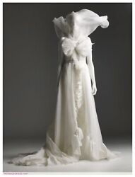 Viktor And Rolf Handm Wedding Gown White Ivory Lace Bow Long Destination Dress 36 6