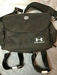 Under Armour Baby Armour black polyester backpack diaper bag pad w SEC patch  $20.00