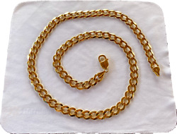 Nwt 14k Solid Yellow Gold 24 - 9.4mm Polished Light Flat Cuban Chain - 52.96g