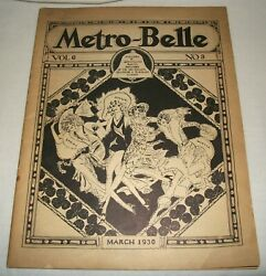 March 1930 Metro Belle Magazine New England Telephone And Telegraph Co Vintage