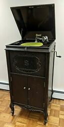 Antique Brunswick Victrola With Record Collection. Working. Includes Extras