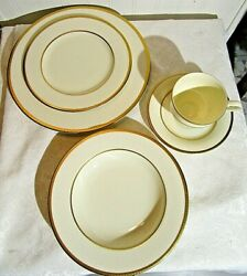 Ivory Flair By Mikasa 5 Piece Setting For 2 Minus A Cup 9 Pieces Lot Em