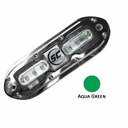 Shadow-caster Scm-6 Led Underwater Light W/20and039 Cable 316 Ss Housing Aqua Gree...