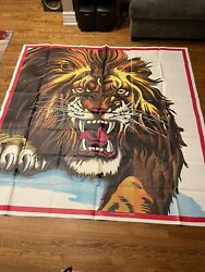 """🔥ringling Bros Barnum And Bailey 1940's Lion 4 Sheets Circus Poster 81""""x 81"""""""
