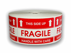 Fragile / This Side Up Shipping Stickers 2x3, 1000 Labels P/r, 50 Rolls