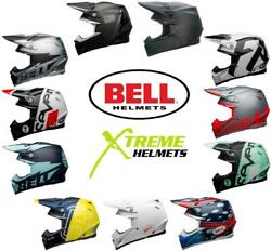 Bell Moto-9 Flex Helmet Carbon Mx Motocross Dirt Bike Off Road Dot Xs-2xl