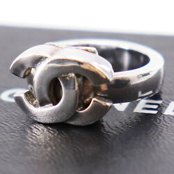 Logos Silver Finger Ring Silver-plated 01p France Authentic Zz765 I