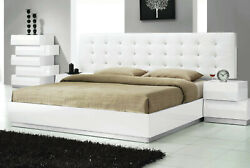 White Contemporary Bedroom Furniture California/ Eastern King/queen Size Bed