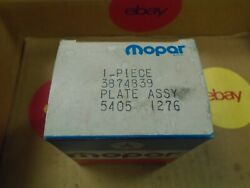 Nos Mopar 3874839 1977 Fury Pick Up And Plate Oem Chrysler Plymouth