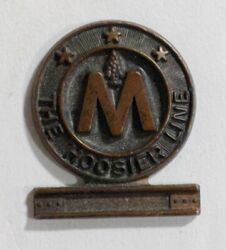 Rare Monon Route Hoosier Line Railroad Conductor Hat Pin Badge Employee Indiana