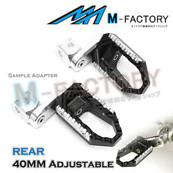 Fit Tmax 530 12-17 X-max Yp400 13-17 40mm Adjustable Rear Wide Foot Pegs Pedals