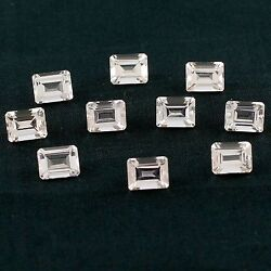 Morganite 25.61 Ct 7x9 Mm Size Octagon Faceted Wholesale Lot Of 10 Piece Gems