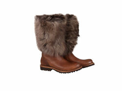 Brunello Cucinelli Womenand039s Mid-calf Boot Shoes Fur Size Eur 36 Uk 3.5 Us 5.5