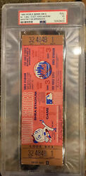Psa 3 Nolan Ryan Save Only App. 1969 World Series Full Ticket Ny Miracle Mets