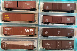 N Scale Western Pacific 50' Box Car Lot Set All Different Numbers Wp Mtl Athearn