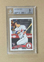 2011 Topps Update 175 Mike Trout Bgs 9 Angels 3xmvp 2299.99
