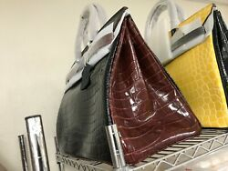 Black and Yellow AND Black Brown Crocodile Leather Bags $170.00