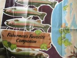 Budweiser Large Ad Poster Fishing Fish Rev 2 Booth's Ginger Ale Cardboard Signs