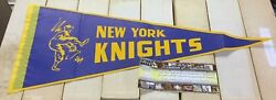 The Natural 1984 Robert Redford New York Knights Pennant 30x12 Prop W/ Coa