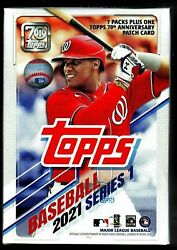 2021 Topps Baseball Series 1 One Factory Sealed Blaster Box W/patch