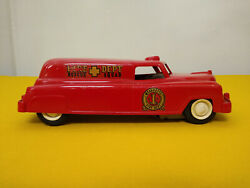 Wyandotte Fire Dept Rescue Squad Plastic And Metal Friction Toy Vehicle 9 Long