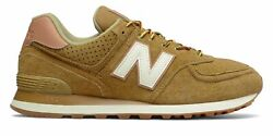 New Balance Menand039s 574 Shoes Yellow With Off White