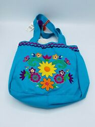 Claire#x27;s Blue Flowers Tote Girls New $19.99