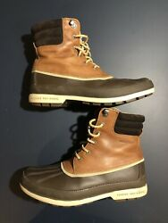 Sperry Top-sider Cold Bay Brown Leather Waterproof Boots Mens 9m 10167
