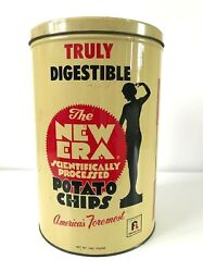 Vintage Frito-lay - The New Era Layand039s Potato Chips Tin - Truly Digestible