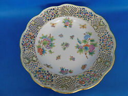 Herend Viktoria Giant Traced Wall Plate Porcelain Vbo