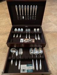 Lyric By Gorham Sterling Silver Flatware Service Set For 8 Mid Century 42 Pcs