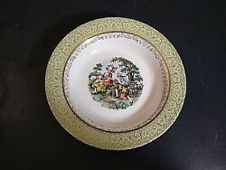 Royal China Empire Godey Soup Bowl Scene Of Colonial Couple