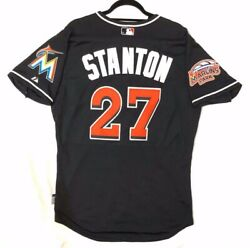 Majestic Authentic 52 2xl, Miami Marlins, Giancarlo Stanton, Cool Base Jersey