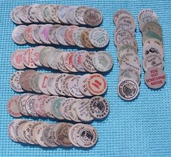 78 Different Wooden Nickels - Most Are New Orleans Area Mardi Gras Doubloons