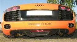 Fits Audi R8 Real Carbon Cover Rear Diffuser Dtm Style Coupe Spyder