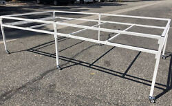 Easy 4and039 X 8and039 4and039 X 4and039 Quick Fit Rolling Flood Table Stand For Hydroponic Trays