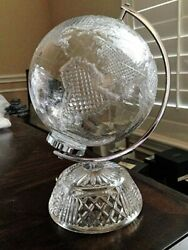 Retired Waterford Crystal 11.5andrdquo Small World Globe Centerpiece